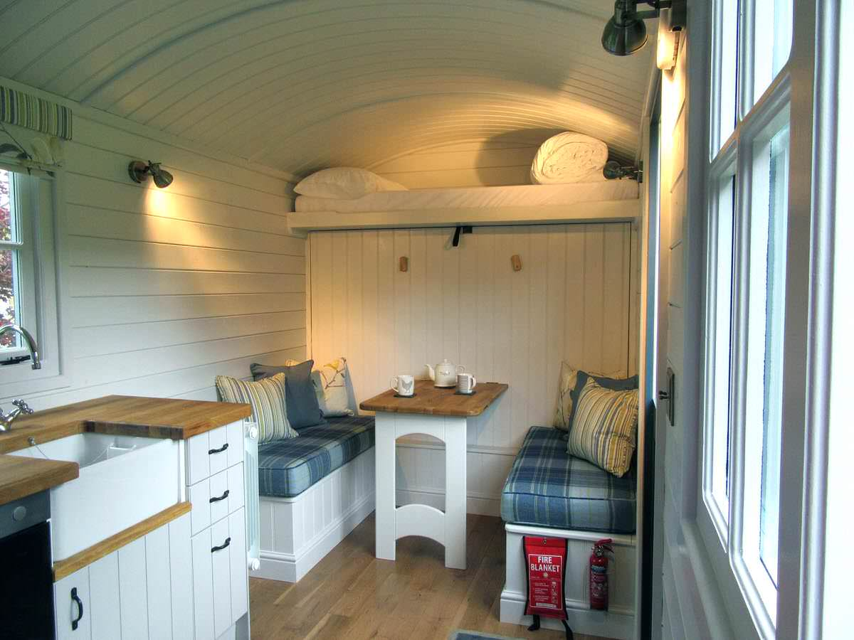 A peek inside the hut